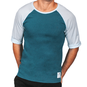 Green & Mint Men's Raglan Australian Made