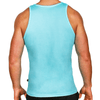 Aqua Blue Men's Singlet Australian Made
