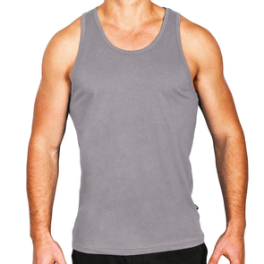 Frost Grey Men's Singlet Australian Made