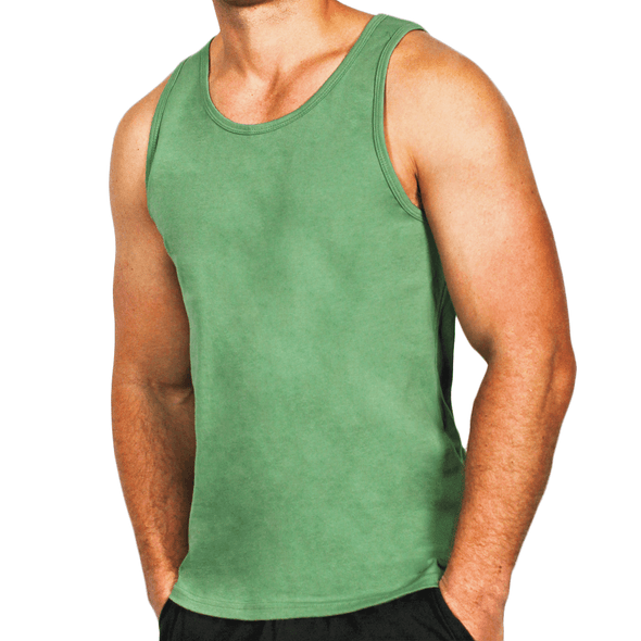 Green Men's Singlet Australian Made