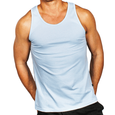 Ice Blue Men's Singlet Australian Made