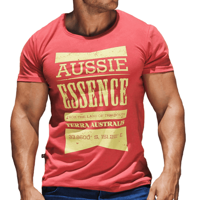 Red Graphic Printed Men's T-Shirt Australian Made