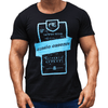 Black Graphic Print Men's T-Shirt Australian Made