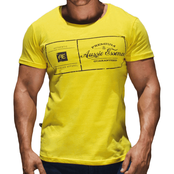 Yellow Graphic Print Men's T-Shirt Australian Made