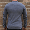 Grey Men's Sweater Jumper - Australian Made - aussie essence - Cloud Stratus