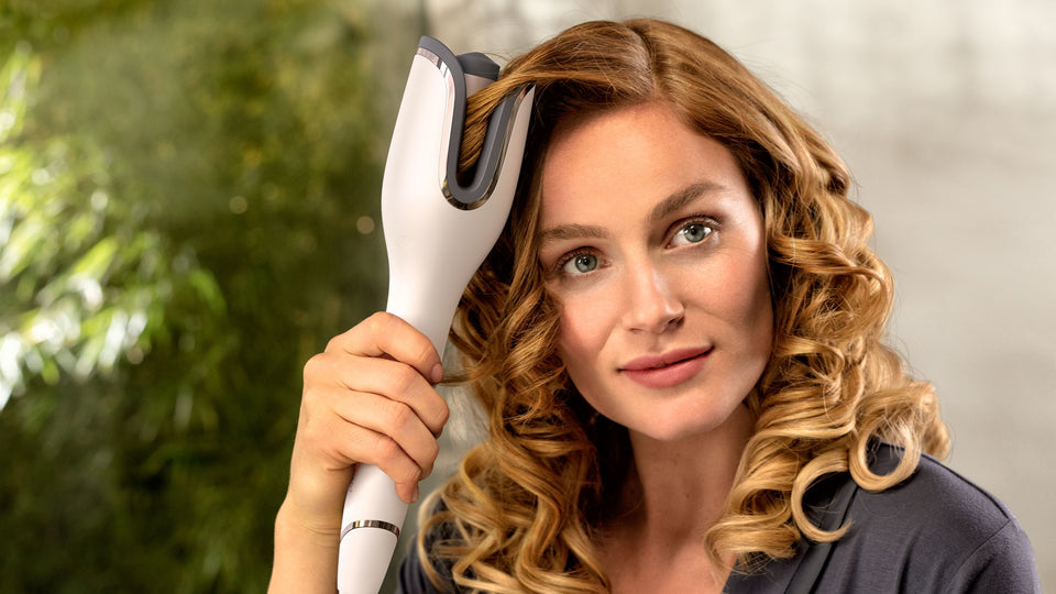 Philips StyleCare Auto Curler & Heated straightening brush BHH888/03 Online Shopping Store