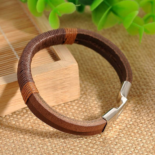 Retro Punk Unisex Leather Bracelet Online Store UAE