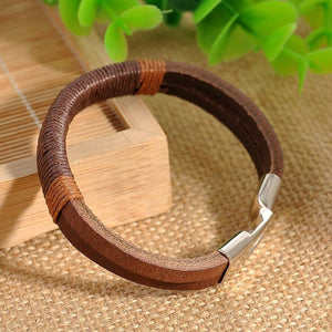 Retro Punk Unisex Leather Bracelet Online Shopping Store