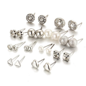 12 pair/set Trendy Style Earrings Online Store UAE