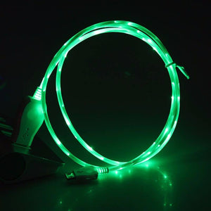 Micro USB With Flowing Led Light Online Shopping Store