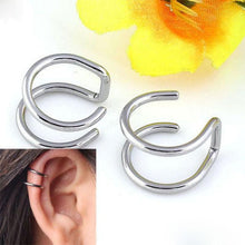 Load image into Gallery viewer, 2 Pcs/set Punk Simple Ear Clip Earrings