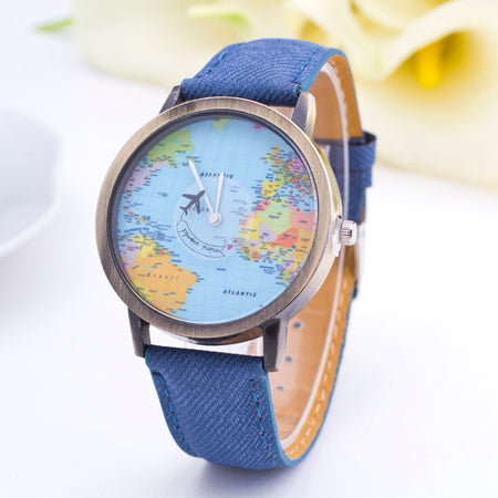 World Map Dial Watches