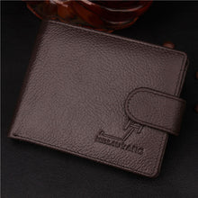 Load image into Gallery viewer, Genuine Leather Wallet With Coin Bag