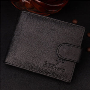 Genuine Leather Wallet With Coin Bag