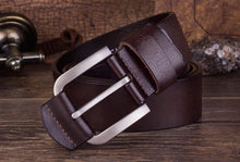 Load image into Gallery viewer, Cow Leather Dark Coffee Belts ZK004