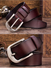 Load image into Gallery viewer, Cow Leather Coffee Brown Belts ZK012