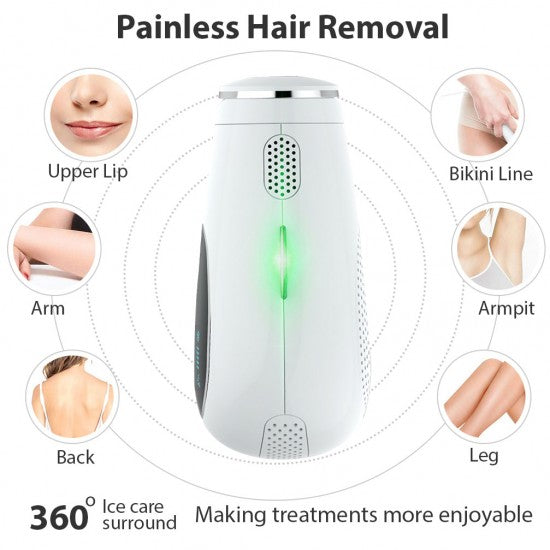 Facial & Body Painless Permanent Hair Removal for Women & Men