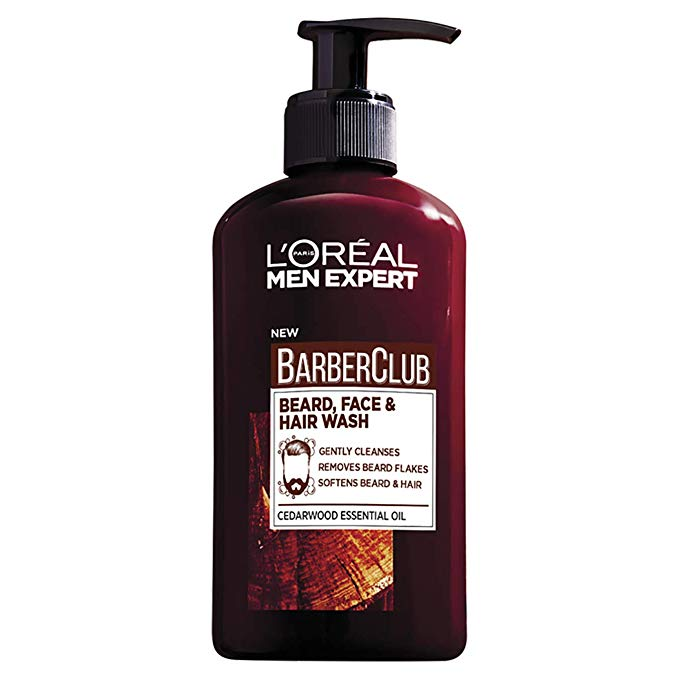 L'Oreal Men Expert Barber Club 3-In-1 Beard, Hair & Face Wash, 200 ml Online Shopping Store