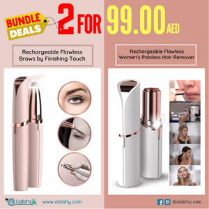 2 IN 1 BUNDLE - Two Rechargeable Flawless Brows Painless Hair Removers Online Shopping Store