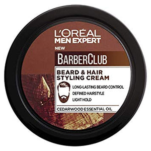 L'Oreal Men Expert Barber Club Beard And Hair Styling Cream, 75 ml Online Store UAE