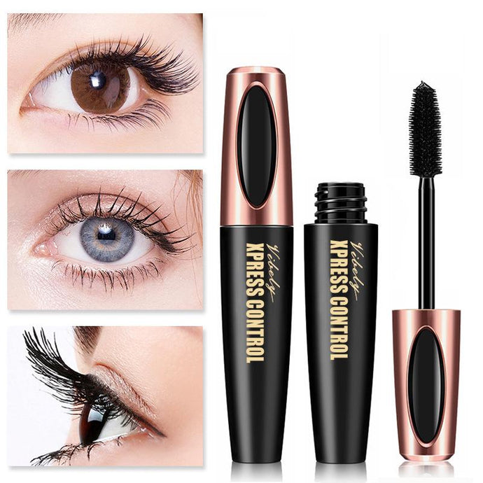 Vibely 4D Silk Fiber Eyelash Mascara Long-lasting Extension Makeup