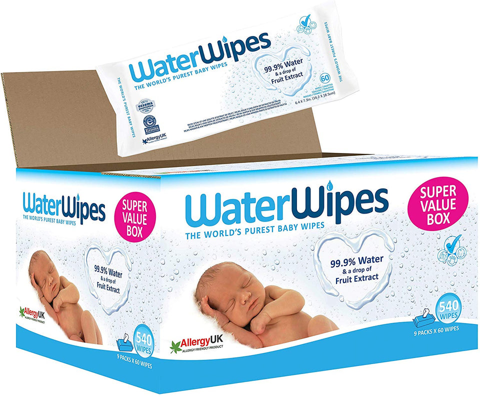 WaterWipes Baby Wipes, 9x60 (540 Wipes) Online Shopping Store
