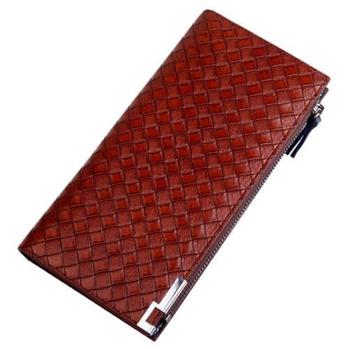 Braided Pattern Design Zipper Long Wallets Online Shopping Store
