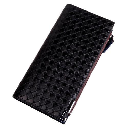 Braided Pattern Design Zipper Long Wallets
