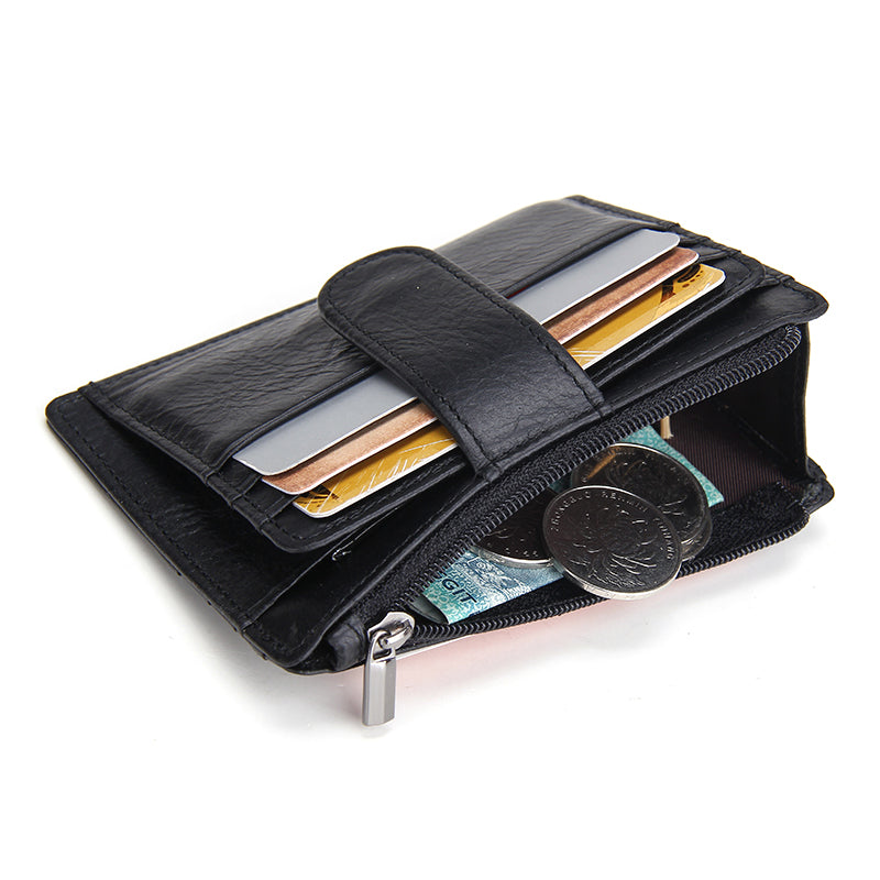 Thin Genuine Leather Men Wallet