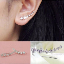 Load image into Gallery viewer, Silver Piercing Cartilage Clip Earring
