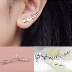 Silver Piercing Cartilage Clip Earring