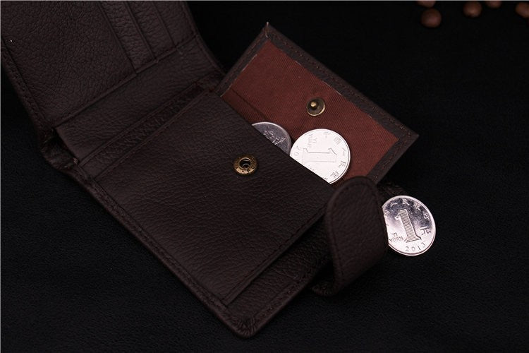 Genuine Leather Wallet With Coin Bag Online Store UAE