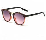Ralferty Vintage Ladies Gradient Red Leopard Sunglasses