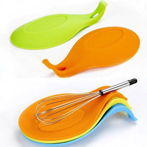 1pc Silicone Spoon Insulation Mat Silicone Heat Resistant Placemat Tray Spoon Online Store UAE