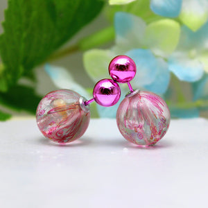Double Pearls Pattern Rose Earrings Online Shopping Store