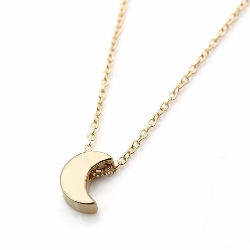 Crescent Moon Chain Pendant Necklace Online Shopping Store