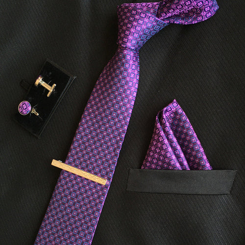 Neck Tie Set Violet Online Shopping Store