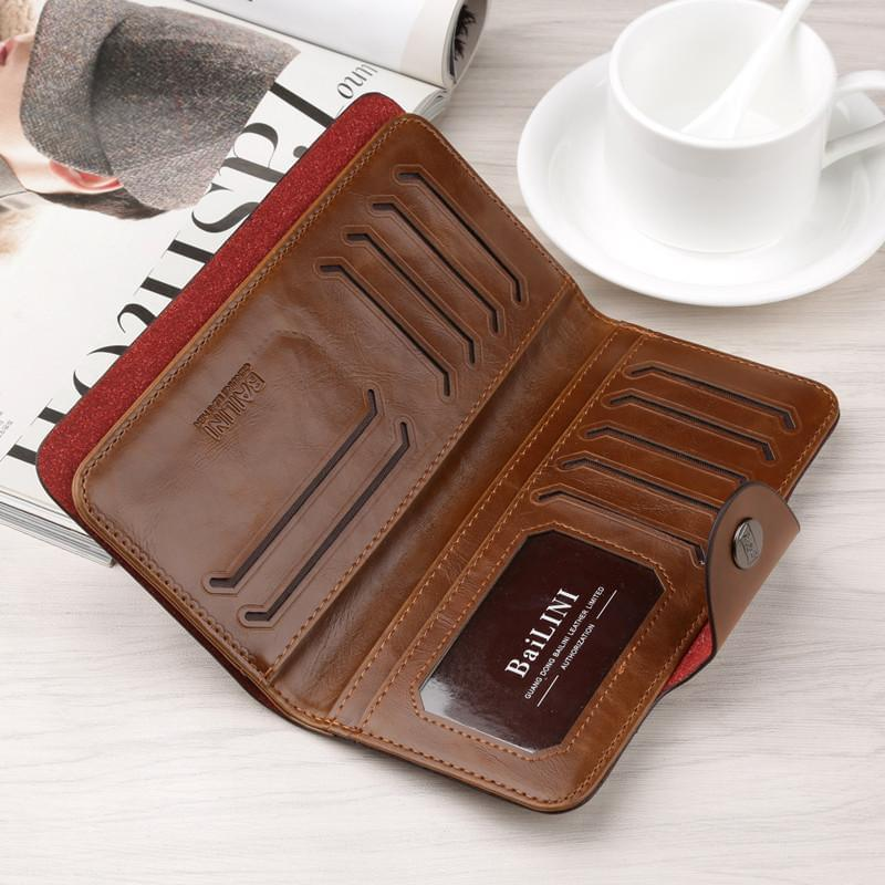 Bailini Hasp Long Leather Wallets Online Shopping Store