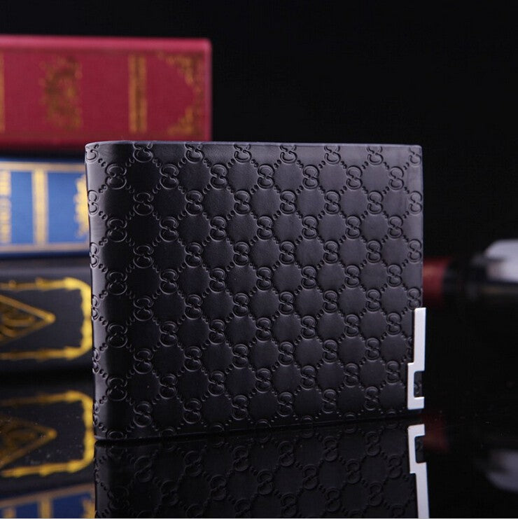 Zipper & Hasp Short Leather Wallets