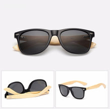 Load image into Gallery viewer, Ralferty Wooden Frame Matt Black Sunglasses