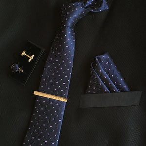 Neck Tie Set Navy Online Store UAE