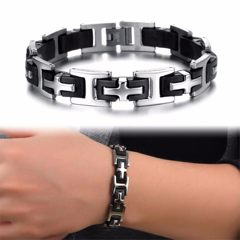 Link Chain Stainless Steel 215mm Bracelets
