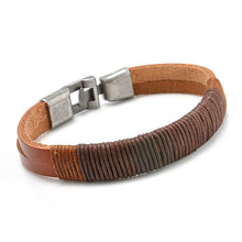 Load image into Gallery viewer, Retro Punk Unisex Leather Bracelet