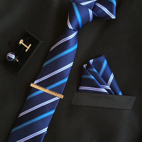 Neck Tie Set Dark Blue Online Shopping Store