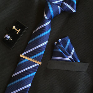 Neck Tie Set Dark Blue Online Store UAE
