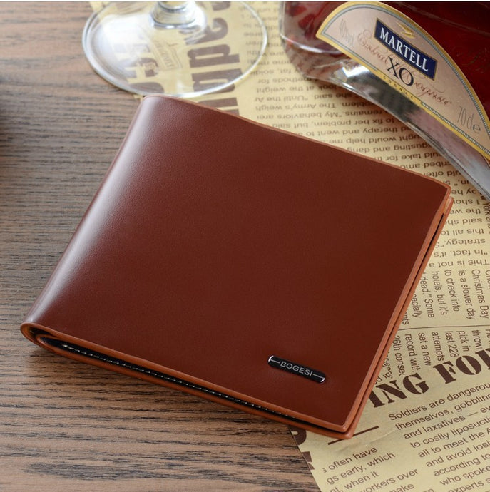 Leather Bogesi Short Wallets