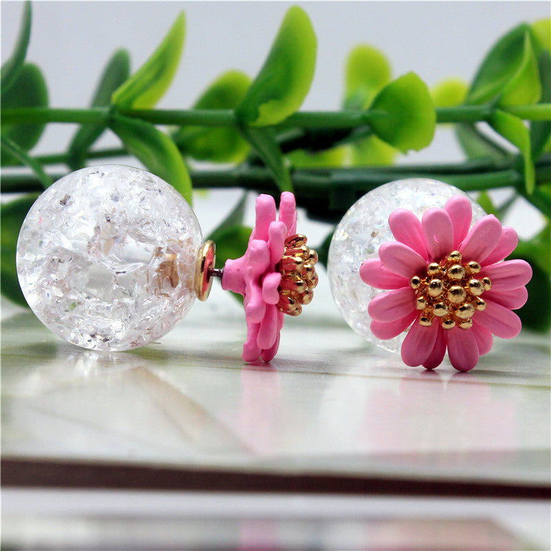 Daisy Flower Stud Earrings Online Store UAE