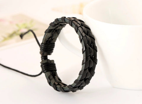 Handmade Braided Leather Rope Chain Bracelets