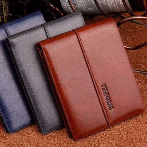 Pideng Short Leather Wallets Online Store UAE