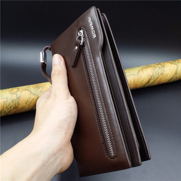 Long Clutch Leather Wallets